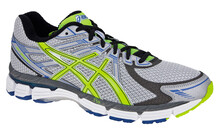 Asics Men's GT-2000 silver/neon yellow/blue